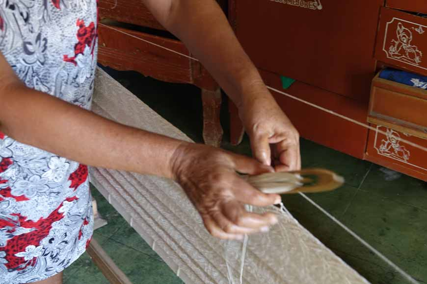 Apprendre à tisser un hamac à Tixkokob