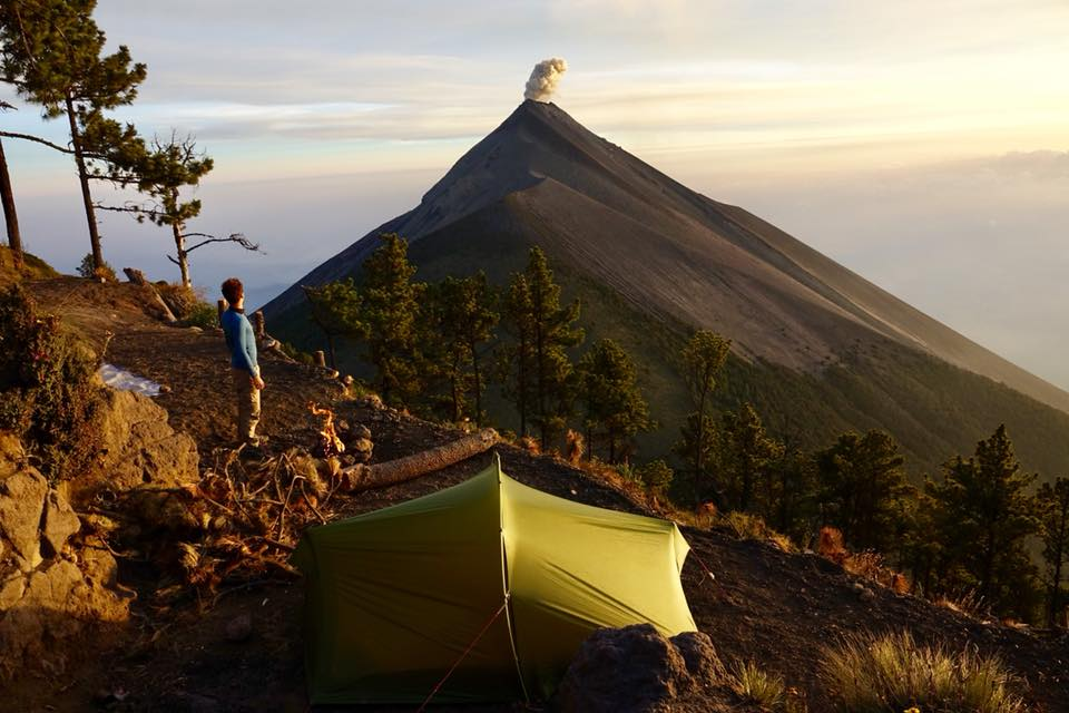 acatenango ascension du volcan seul camping