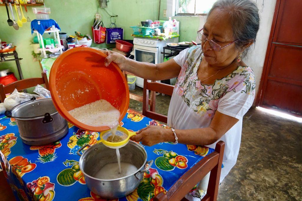 boire de l'atole à Kimbila