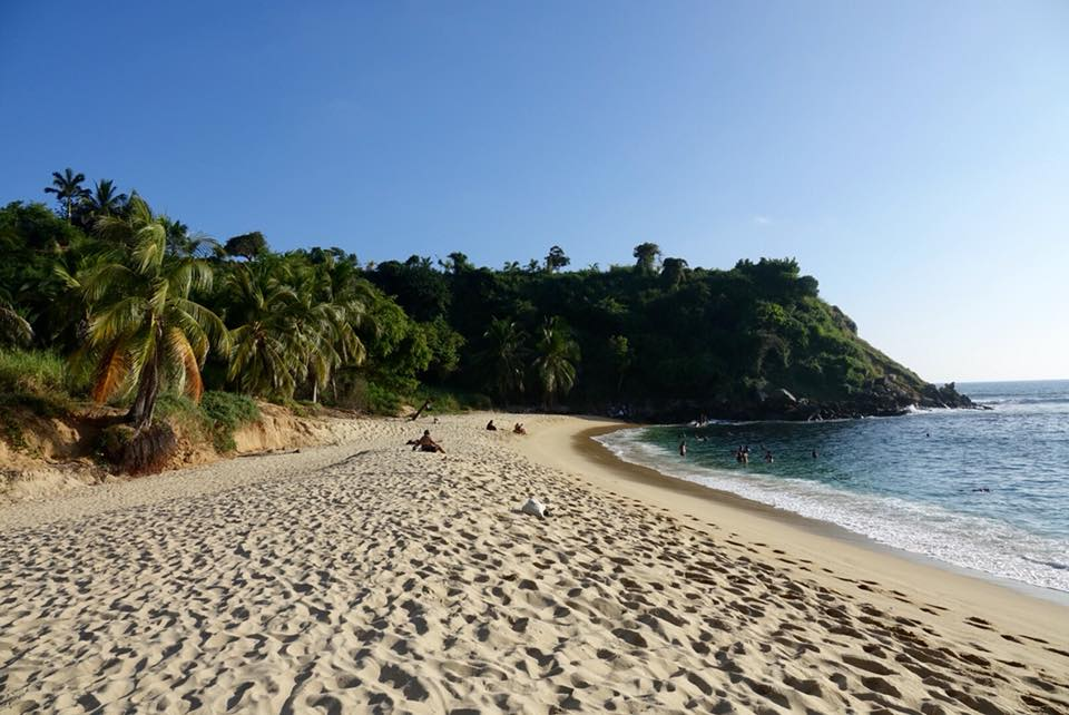 plage puerto escondido cote pacifique de Oaxaca